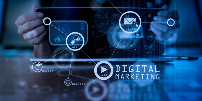 What are the main categories of digital marketing?